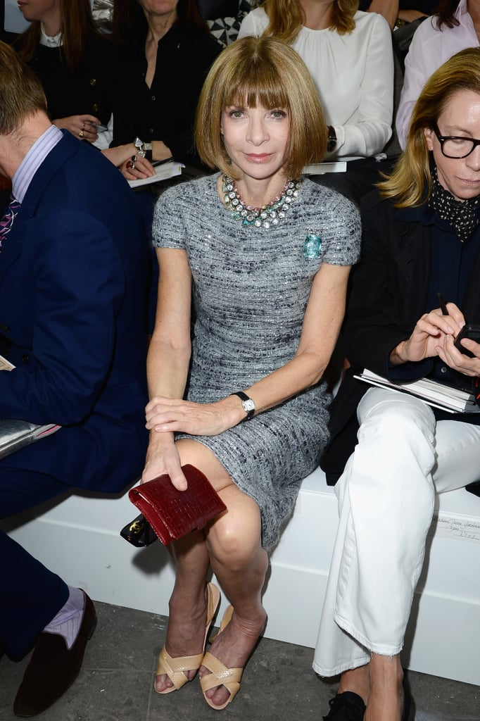 Anna Wintour took her place in the front row.