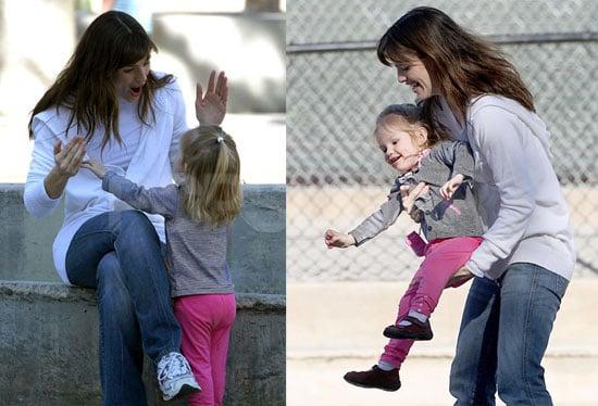 Jen and Violet's Pink Pants Peek-a-boo!