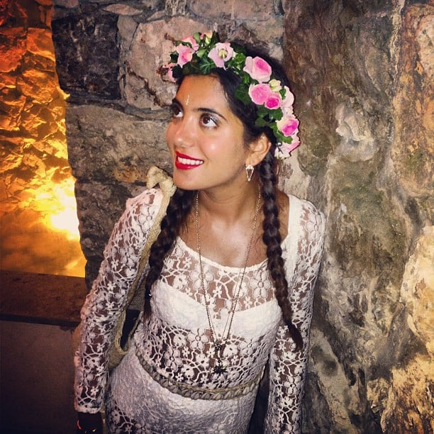 Jewellery designer Noor Fares showed off her look for the cruise. Source: Instagram user noorfares