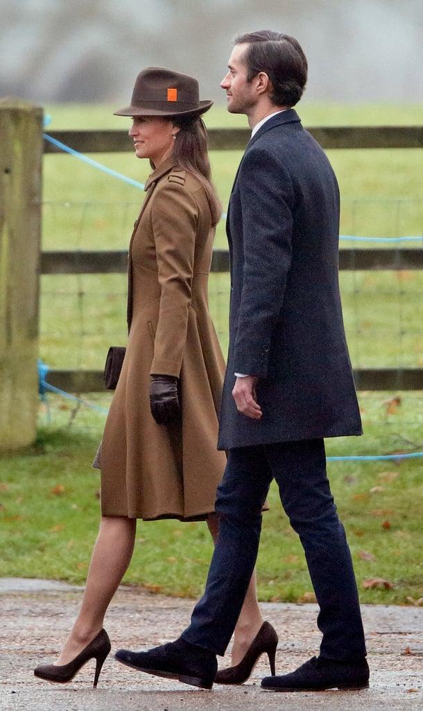 Pippa Middleton Brown Coat January  2017