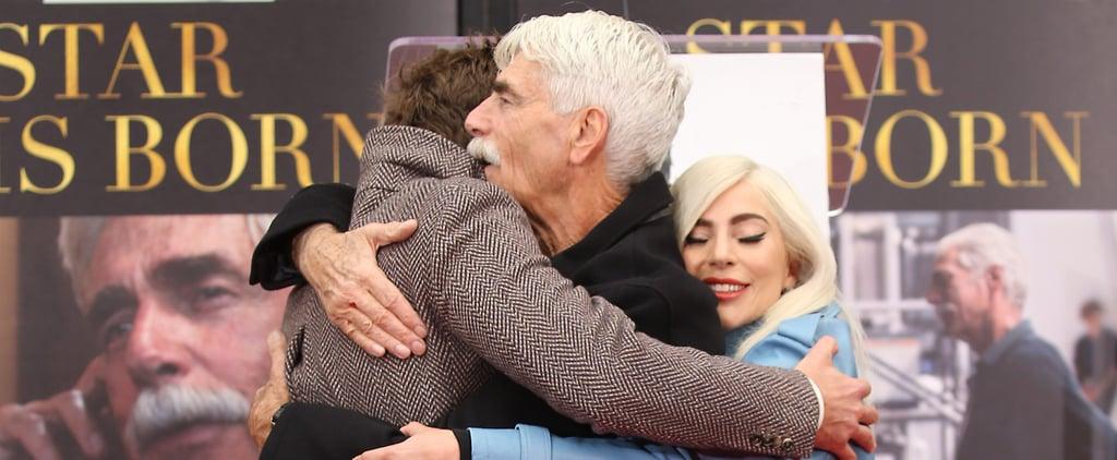 Lady Gaga Bradley Cooper at Sam Elliott's Handprint Ceremony