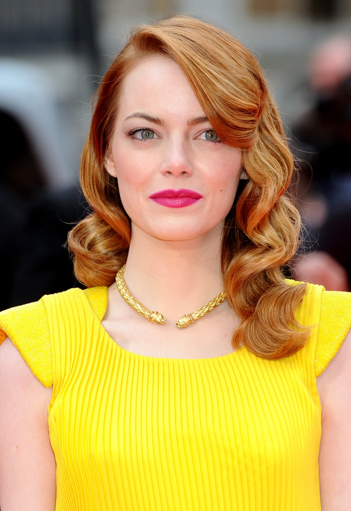 Celebrities With Retro Old Hollywood Curls And Hairstyles