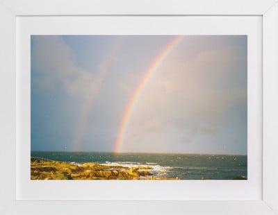 Double Rainbow at the Sea  Art Print ($60)