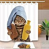 Cat Shower Curtain Set