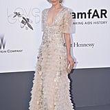 Milla Jovovich at the amfAR gala in Cannes.