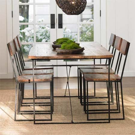 Steal of the Day: Railroad Tie Dining Table and Chairs