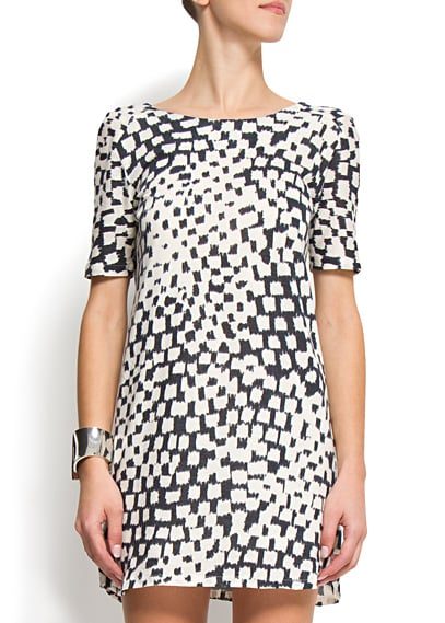 This great graphic shift has all the makings of a chic little work dress — and when Fall rolls around, just add tights.  Mango Graphic Printed Dress ($40)