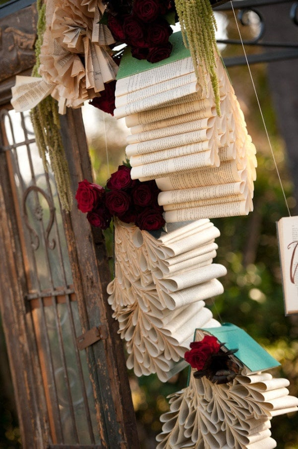 Book Page Garlands