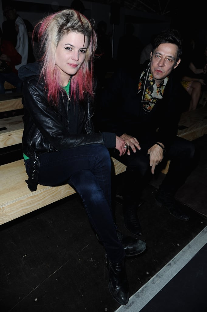 Alison Mosshart and Jamie Hince sat together at Saint Laurent.