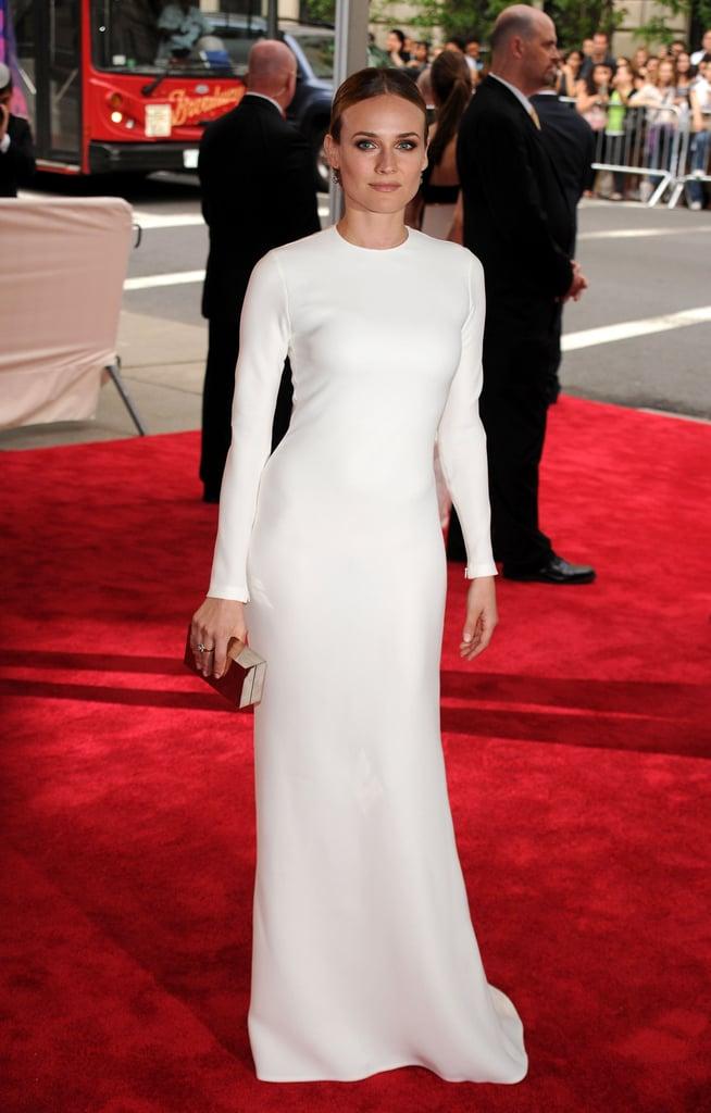 Diane wore minimalist Calvin Klein at the Met Gala in 2010.
