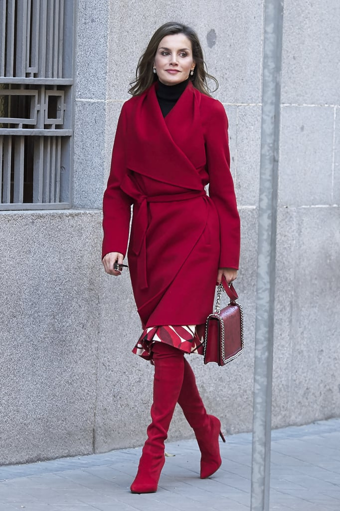 Queen Letizia Red Knee-High Boots