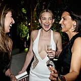 Kate Hudson shared a laugh with Nina Garcia and a pal at the Weinstein Company party.