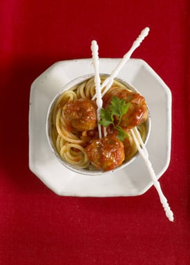 Mini Meatballs with Tomato Sauce