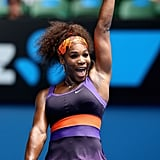 Serena Williams Wearing a Purple Dress at the Australian Open in 2013