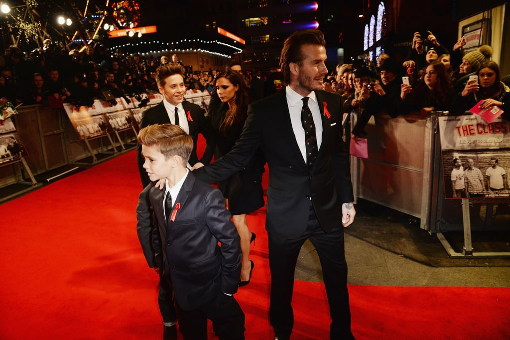 David Beckham Gets Support From His Family and Harry Styles