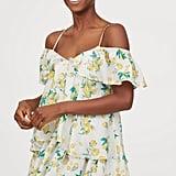 H&M Lyocell-Blend Flounced Dress