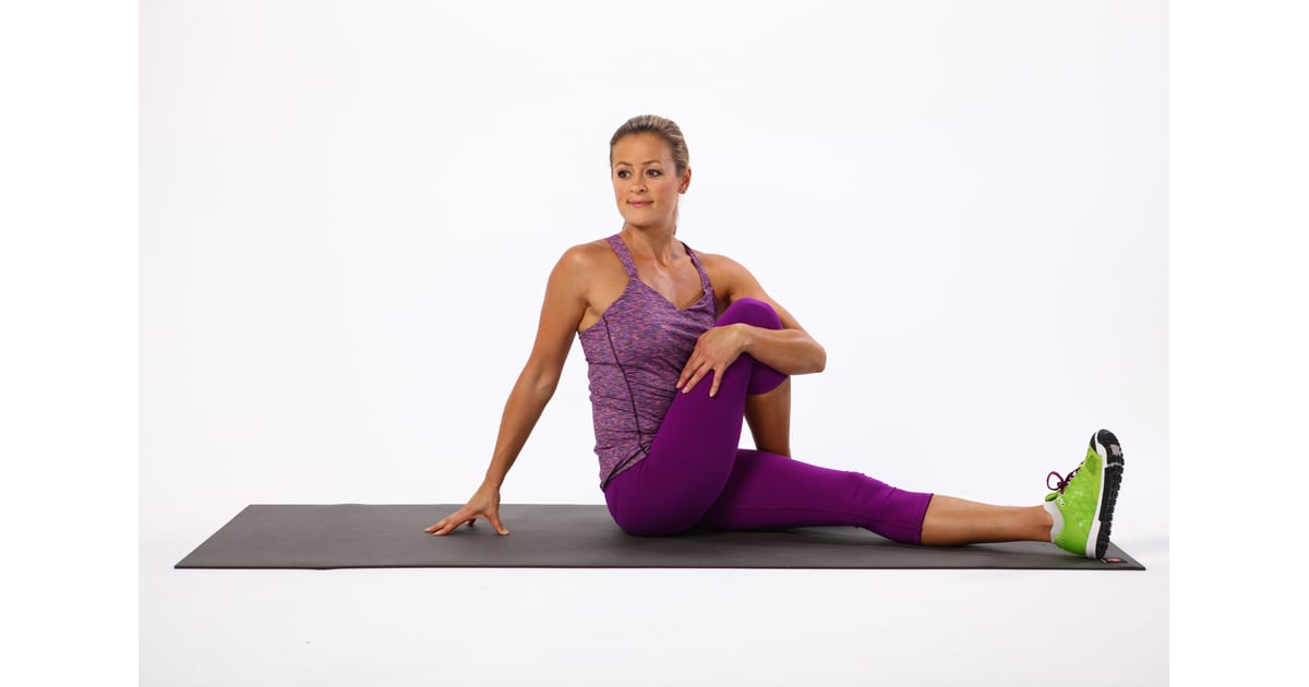 Seated Spinal Twist Best Recovery Stretches Popsugar