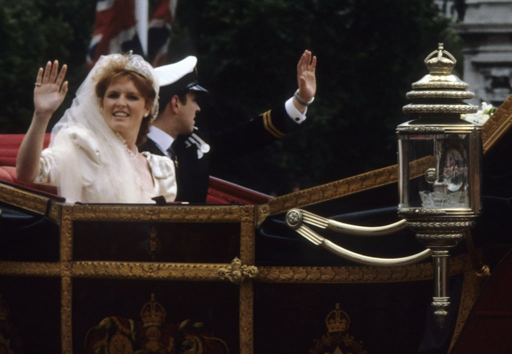Sarah Ferguson Waving in the Carriage in 1986