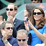 The Duchess brought out those Gucci sunglasses again.