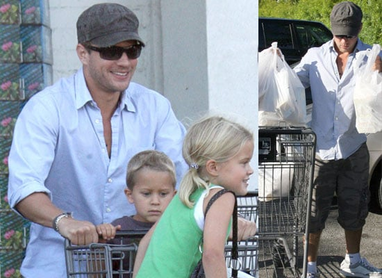 Photos Of Ryan Phillippe With His Children Deacon and Ava Out Shopping