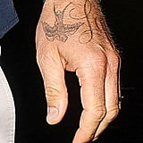 """David Beckham's new """"Love"""" tattoo was on display during his night out in London."""