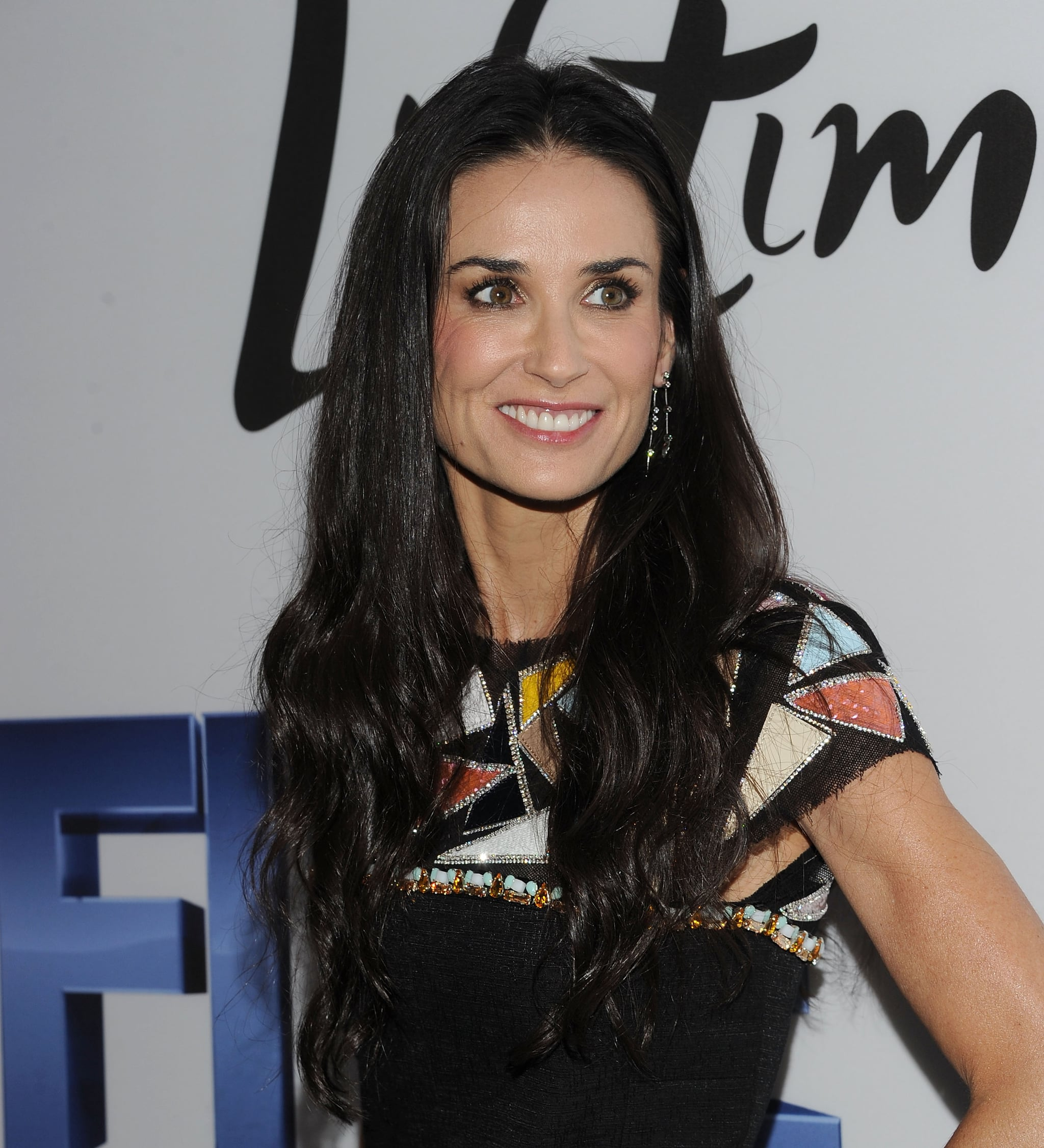 Demi Moore on the blue carpet in NYC.