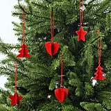 Vinterfest Set of 6 Red Hanging Ornaments