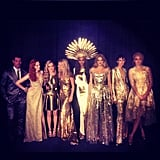 Jourdan Dunn shared a photo of herself with Kate Moss, Stella Tennant, and more supermodels before they headed to the runway for the London Olympics closing ceremony. Source: Twitter user missjourdandunn