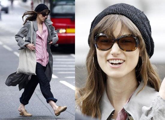 19/6/2009 Keira Knightley Filming London Boulevard