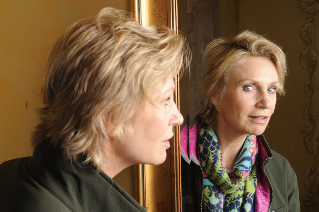 Jane Lynch goofed around with a mirror on Sunday during Sundance.
