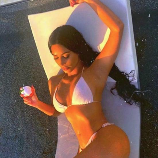 Kim Kardashian White Bikini For Kimoji Fragrance Instagram