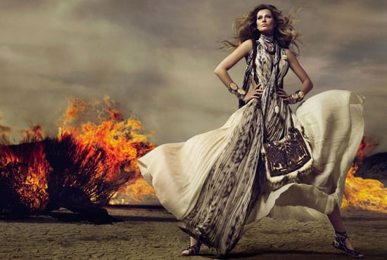 Roberto Cavalli Fall 2010 Ads With Gisele Bundchen