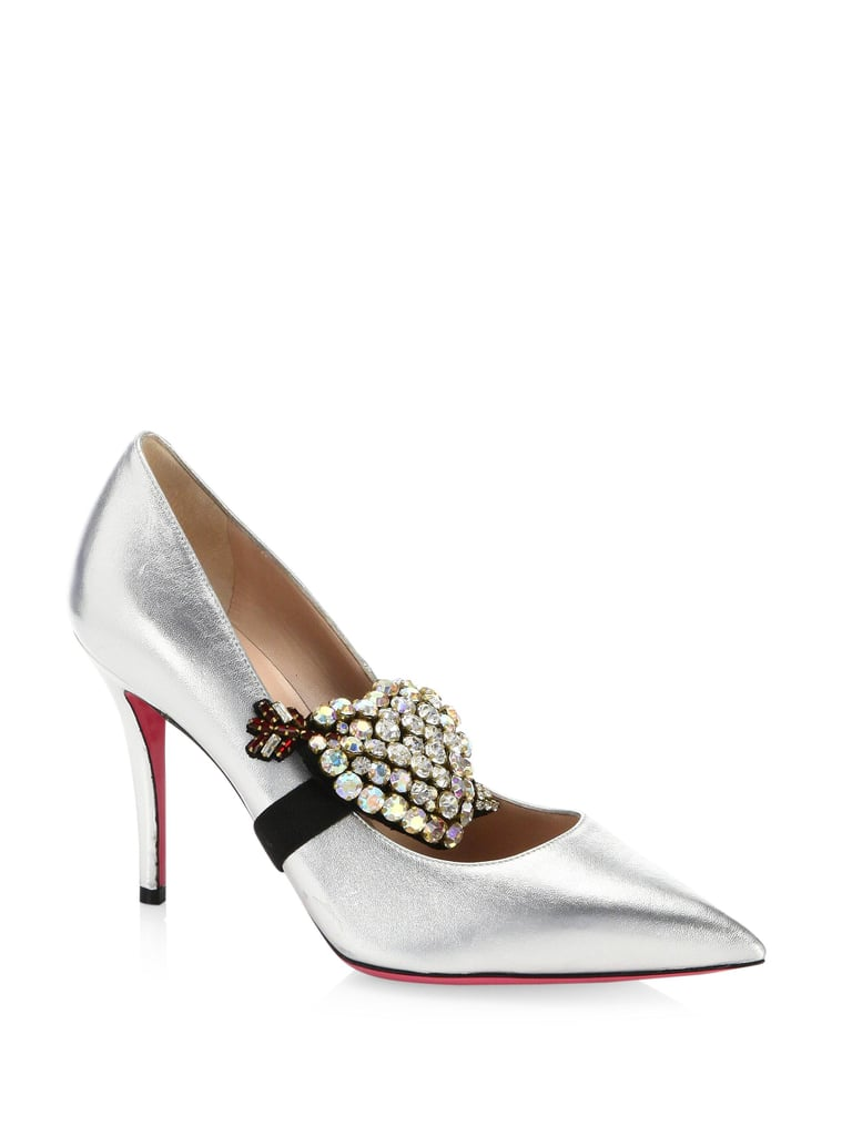 Gucci Virginia Heart Leather Pumps