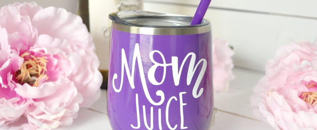 Mom Juice Wine Glasses on Etsy