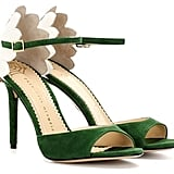 Charlotte Olympia Marge Embellished Suede Sandals