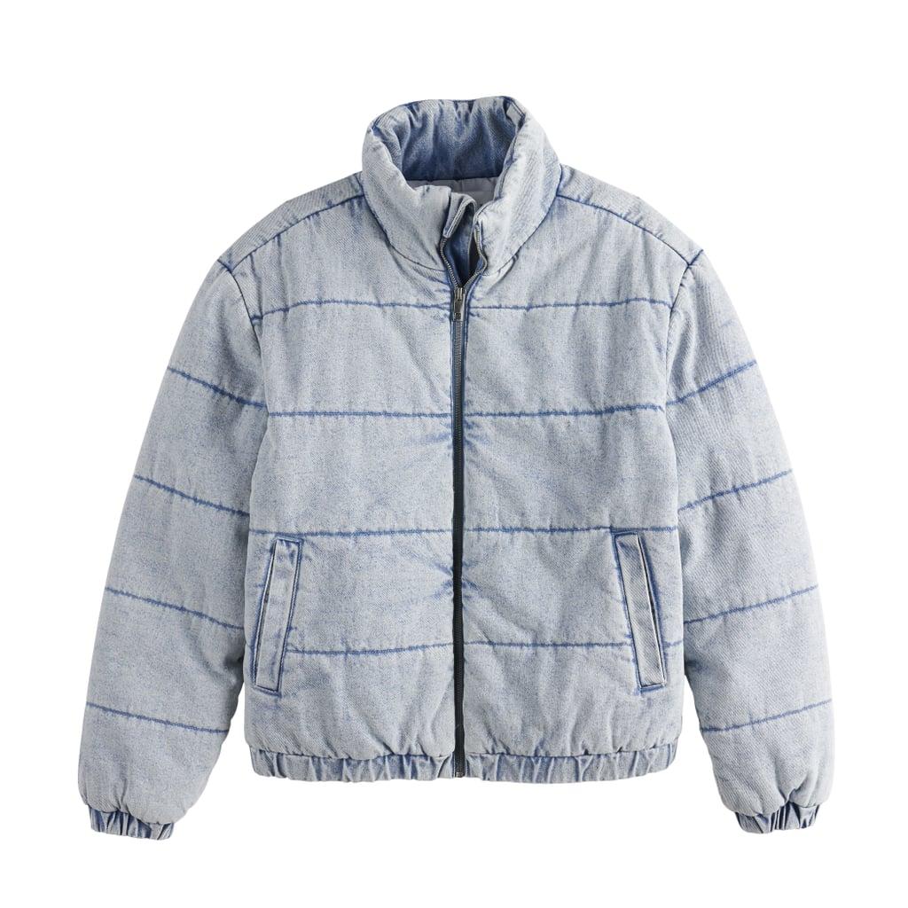 POPSUGAR Denim Puffer Jacket