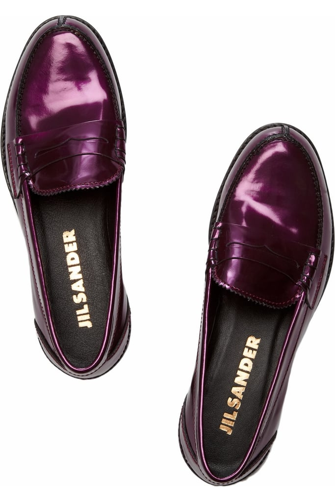 Add a little sparkle to your step in these Jil Sander Mirto metallic loafers ($203, originally $675).