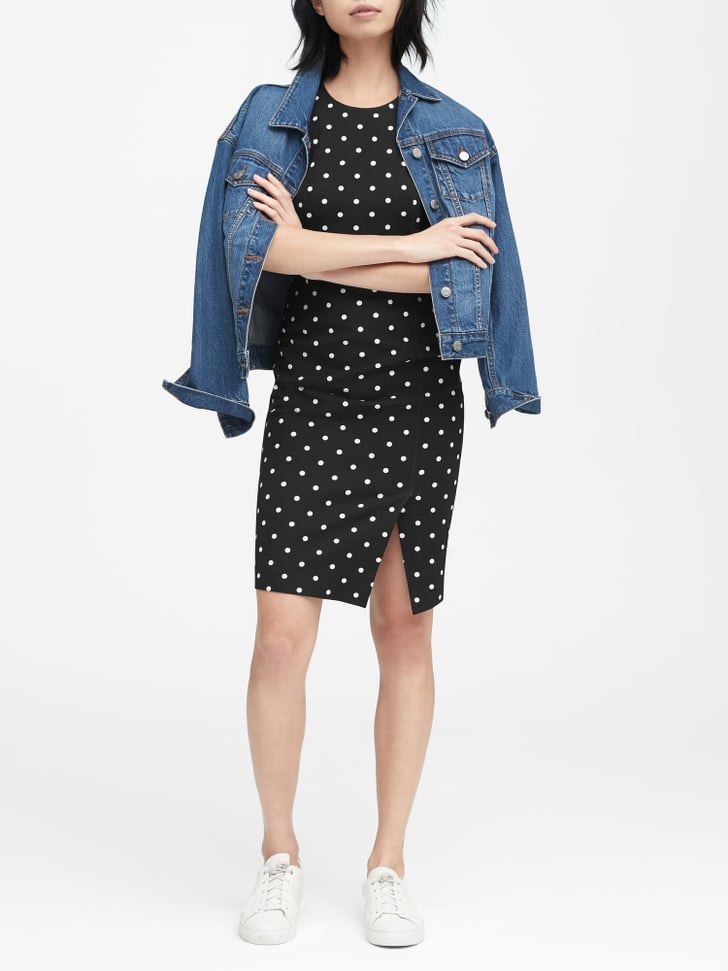 10 Best Bi Level Home Decorating Ideas: Banana Republic Polka Dot Bi-Stretch Sheath Dress