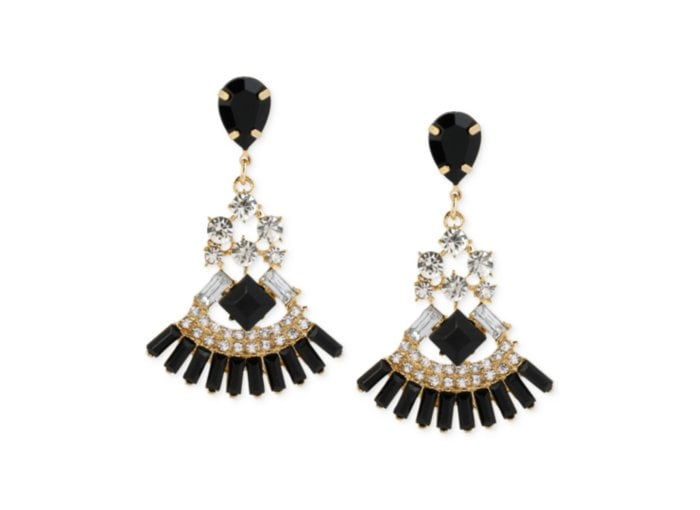 Gold tone mixed black and crystal chandelier earrings 3650 haskell gold tone mixed black and crystal chandelier earrings 3650 mozeypictures Image collections