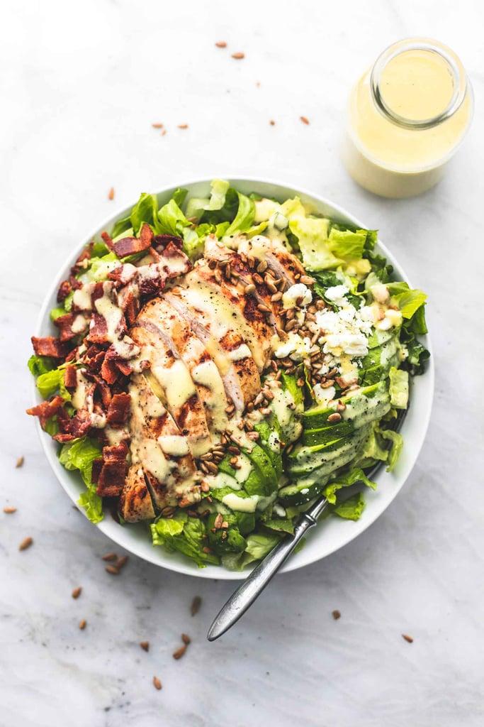 Chicken, Bacon and Avocado Salad with Sweet Vidalia Onion Dressing
