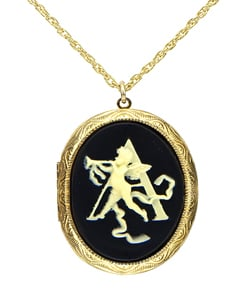 A hint of tradition to adorn your cableknits and stripes.   Priveleged Initial Locket Necklace ($95)