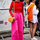 Try a Beyond-Bright Colour Combination Like Cherry Red and Hot Pink
