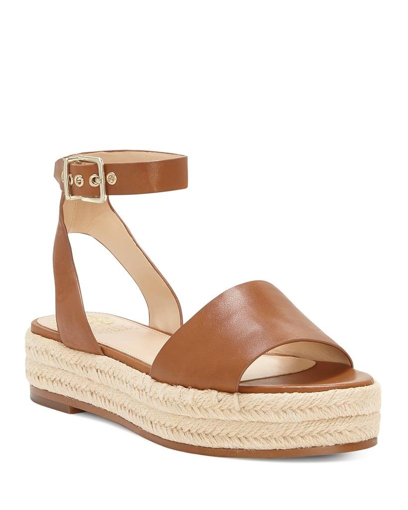 Vince Camuto Kathalia Leather Platform Espadrille Sandals