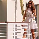 Shop Selling Sunset: Chrishell's Self Portrait Floral Vine Mini Dress