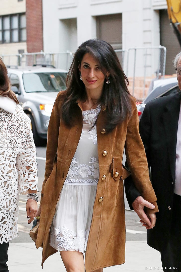 Amal Alamuddin With George Clooney and Her Parents ...