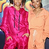 Chloe x Halle at the Dreamworks Trolls The Experience Opening