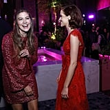 Laura Dreyfuss and Zoey Deutch at The Politician Premiere