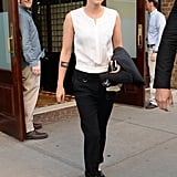 Kristen Stewart headed out in NYC on Wednesday.
