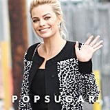 Margot waved to the cameras on her way into Jimmy Kimmel Live.