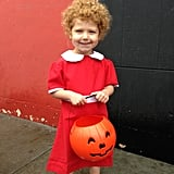 And her sister Juliet went as Annie, no wig needed.